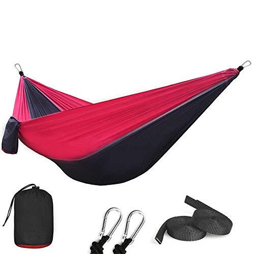 NOBRAND 210T Nylon Parachute Hammock Light Weight Outdoor Camping Portable Single Hammock With Hammock Ropes And Hammock Carabiners