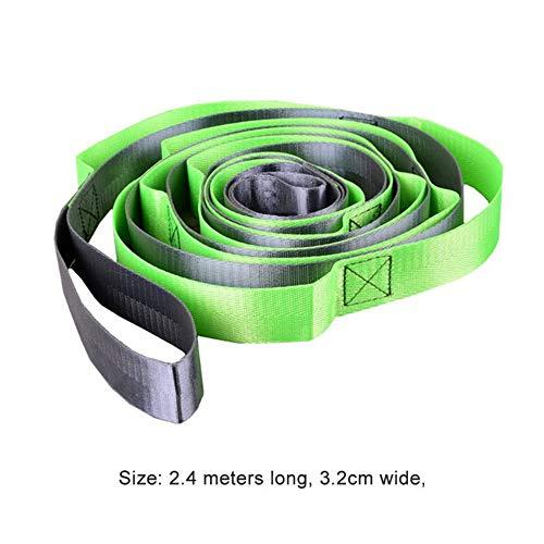 Générique Fitness Yoga Nylon Stretch Strap Body Building Tension Stretching Ceintures pour Anti Gravity Aerial Yoga Hamac