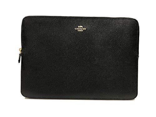 Coach Crossgrain Leather & PVC 13'-14' Laptop Sleeve (IM/Black)
