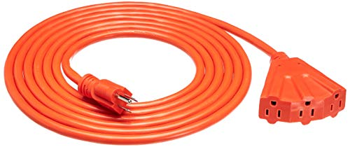 AmazonBasics 12/3 Outdoor Extension Cord with 3 Outlets, Orange, 15 Foot