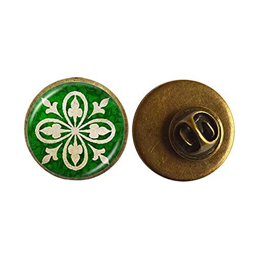 Broche irlandés para joyería irlandesa con cúpula de cristal de plata para suéter, accesorios de la suerte para mujeres y hombres, mejores amigos, PU248