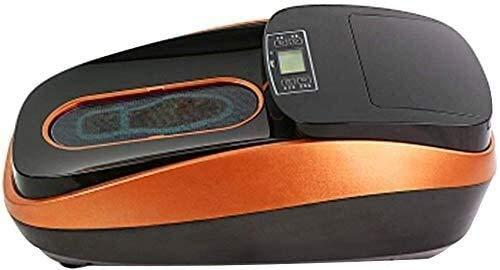 Panduo Schuhschutz Smart Shoe Covers Spender mit LED-Display-Bildschirm, tragbarer, alle automatischen intelligenten Schuhfilmmaschine wasserdicht rutschfest 9.3 (Farbe: Gold) (Color : Red)