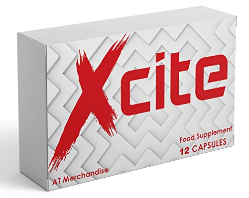 Xcite by VigoreX 1000MG - 12 Capsule Pack - Super Strength Ginseng Food Supplement Booster for Men.