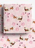 4 hojas de papel de regalo de Navidad, reciclables de alta calidad, 70 cm x 50 cm, hechas de papel 100% reciclado