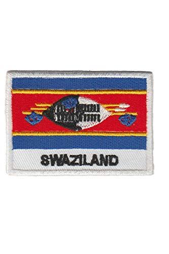Aufnäher mit Swasiland-Flagge, bestickt, zum Aufbügeln, Souvenir, Zubehör