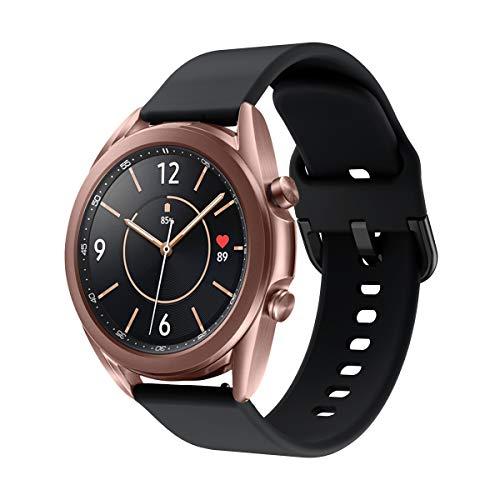 Aimtel Armband Kompatibel mit Samsung Galaxy Watch 3 41mm ArmbandGalaxy Watch Active2 Armbander20mm Weich Wasserdicht Silikon Ersatzarmband fur Galaxy Watch3 41mmActive2Schwarz
