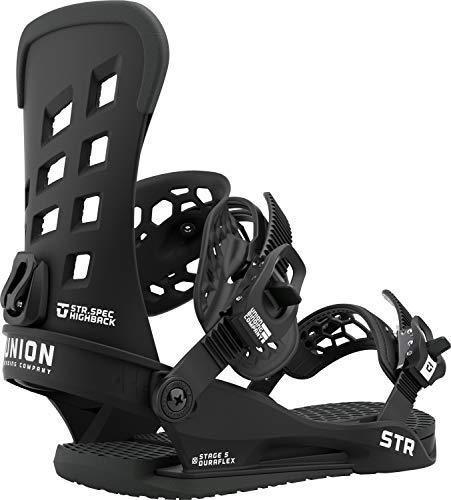Union STR Mens Snowboard Bindings Sz S (6-7.5) Black