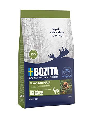BOZITA Flavour Plus Nourriture pour Chien avec Rennes – 3,5 kg – Croquettes produites de manière Durable pour Chiens Adultes – Aliment Complet
