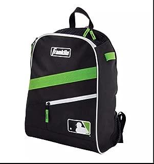 Franklin Sports Backpack Black Neon Green