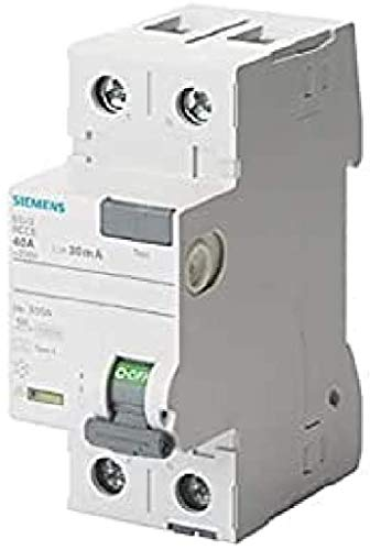 Siemens 5sv - Interruptor diferencial clase-a 2 polos 40a 300ma 70mm