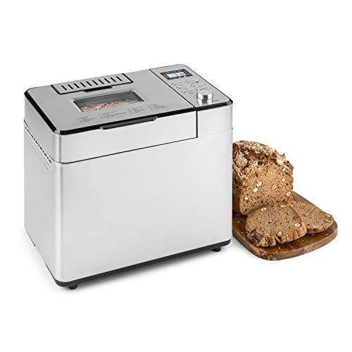 Klarstein Brotilde Family Breader - 14 programas, 3 niveles diferentes de dorado, 1h- función de calentamiento, temporizador 13h, pantalla LCD, sellado antiadherente, acero inoxidable
