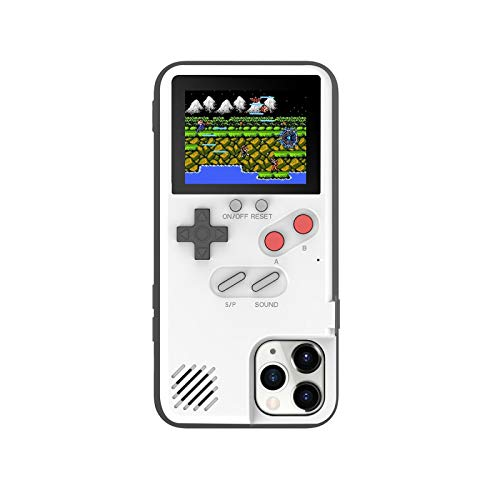 Funda Gameboy para iPhone 12 Mini 11 Pro Max XR X XS Max SE 2020 6 S 7 8 Plus Fundas Retro Game Console Cover - Blanco-Foriphone X