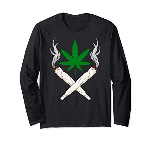 Weed Gras Unkraut Marihuana Cannabis 420 THC Pott Joint Langarmshirt
