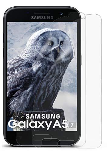 MoEx® Matte Anti Reflex Bildschirmschutzfolie passend für Samsung Galaxy A5 (2017) | Gegen Reflexionen und Fett-Finger - Entspiegelt