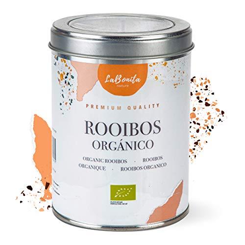 LaBonita Nature, Rooibos 100% Orgánico Sabor Vainilla [Calidad Premium]. Infusión sin cafeína, Lata, 100 g