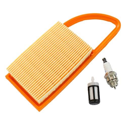 Filtro de Aire SUCHUANGUANG, bujía de Filtro de Combustible para Stihl BR500 BR550 BR600, sopladores de Mochila, cortacésped de Silicona Naranja
