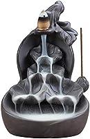 Gourd Backflow Incense Holder, Incense Burner Multi Layer Ceramic Incense Cones Burner Incense Stick Holder Incense...