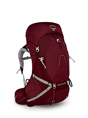 Osprey Aura AG 50 Women's Backpacking Backpack, Gamma Red , Small