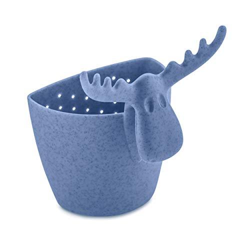 Koziol Teesieb Rudolf, Teefilter, Teebereiter, Tee Sieb, Thermoplastischer Kunststoff, Organic Blue, 3233671