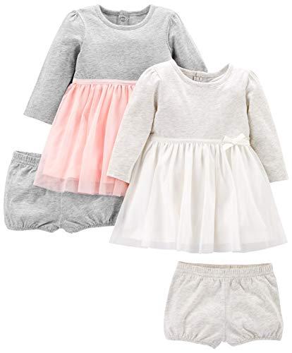Simple Joys by Carter's 2-Pack Long-Sleeve Set playwear-dresses, Pink/Grau, Newborn, 2er