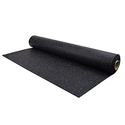 IncStores 8mm Strong Rubber Gym Flooring Rolls Non-Slip Equipment & Protective Mats