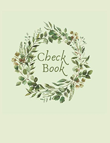 CheckBook Register: 8x11  Classy Managerial Check Book Ledger
