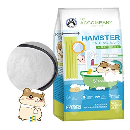 Hamster Bathing Sand,Gerbil Powder Grooming Sand for Tiny Friends Farm Chinchilla Dust Bath Potty Litter Sand (2LB) (Hamster Sand) (Hamster Bath Sand Dust(B))