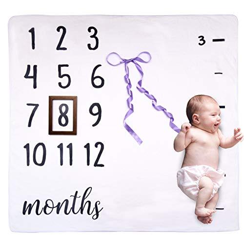 Coperta di Crescita del Bambino, Morbido Coperta con i mesi