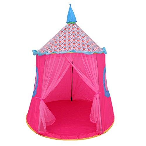 Perfeclan KIDS UP WIZARD PRINCESS CASTLE PLAYING TENT - Pink, as described
