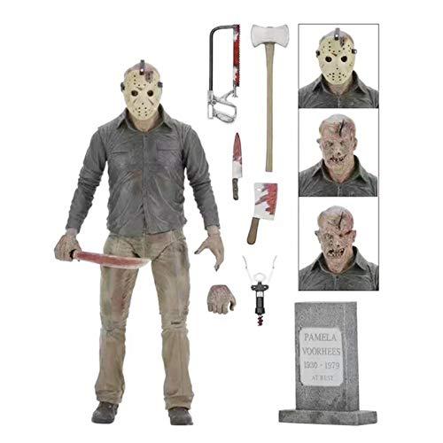 LANGM Jason Voorhees Figures, Jason Figures From Friday 13th Jason Voorhees Figuras Parte 4, 17.8 cm Ultimate Jason Figura de acción
