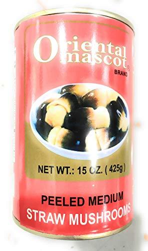 Oriental Mascot Peeled Medium Straw Mushroom 15 oz x 2 Cans