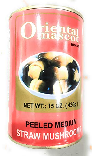 Oriental Mascot Peeled Medium Straw Mushroom 15 oz...