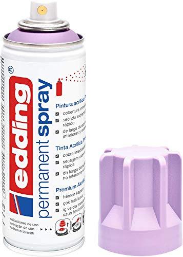 edding 5200-931 - Spray de pintura acrílica de 200 ml, secado rápido sin burbujas, color lavanda suave mate