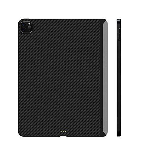 pitaka MagEZ Case kompatibel mit iPad Pro 2018/2020 magnetische Schutzhülle unterstützen das Aufladen von Pencil, kompatibel mit Magic Keyboard, dünne und leichte Carbon Look-Hülle für iPad Pro-11