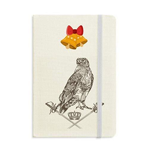 Eagle Espada Corona Animal Barroco Estilo Cuaderno Diario mas Jingling Bell