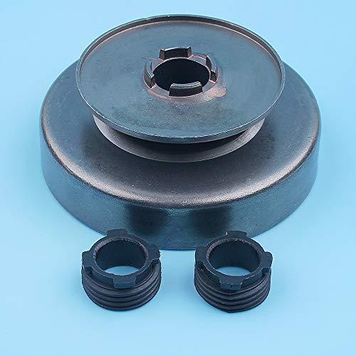Haoyueda Clutch Drum Drum Drive Sprocket Gusano Compatible con Husqvarna 272 XP 268 266 66 61 162 Motosierra 3/8'-7t Repuesto de repuesto # 503650901