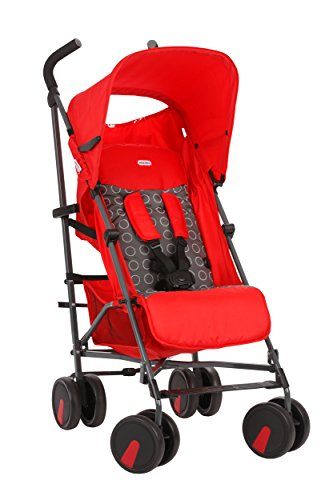 Little Tikes Stroll N' Go Lightweight Stroller with Umbrella Fold, Red (Discontinued by Manufacturer)