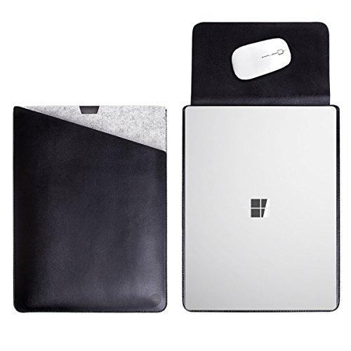 WALNEW 13.5 Microsoft Surface Laptop 1/2/3 13.5 Zoll Schutzhülle, Hülle, Hülle, Cover, mit Zwei-Taschen-Design mit Geschütztem Inneren & Externem Mousepad