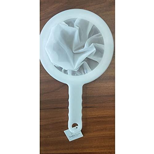 Kitchen Ultra-Fine Nylon Mesh Strainer I Plastic Sieve Filter Spoon For Soy Milk Coffee Milk Yogurt Juice kefir coladores de cocina (400 Mesh)