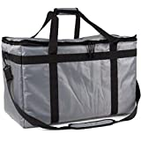 Pro Quality Food Delivery Bag - Heavy-Duty Durable Bags - Thick Insulation and Extra Strength Zipper - Fits Full-Size Catering Pan - Uber Eats, DoorDash, postdates, and Groceries by Ateny Bags