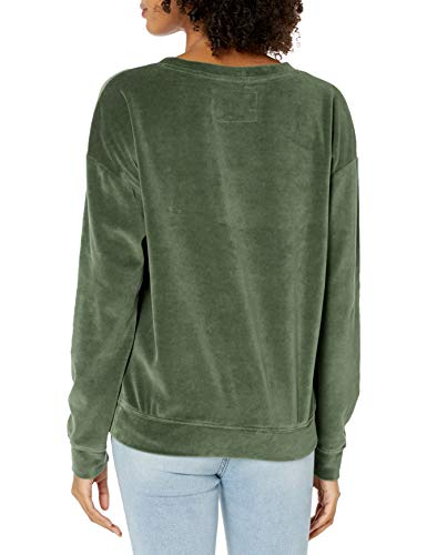 41bRiDMGmJL - True Religion Women's Velvet Crew Sweatshirt