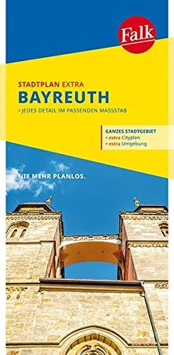Falk Stadtplan Extra Bayreuth 1:15 000: mit Ortsteilen von Blindlach, Eckersdorf (Falk Stadtplan Extra Standardfaltung - Deutschland)