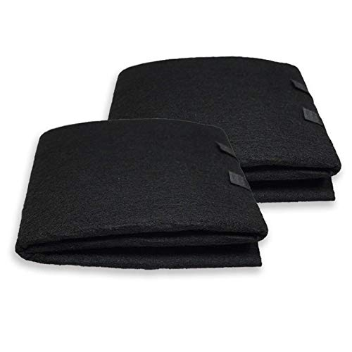 PUREBURG Carbon Filter,Cut-to-Fit Carbon Pad 16 x 48 inches for Air Filter Charcoal Sheet fits Range Hoods Furnace Filters removes Odor VOC Parts Accessories Replacement,2-Pack