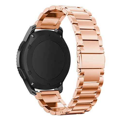 Correa de reloj de acero inoxidable de 20 mm de liberación rápida de metal de repuesto para reloj