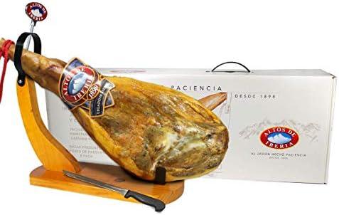 Serrano Ham Natural Ham Holder Knife and Sharpener Set Min Weight 14lb 15 Months Minimum Curing product image