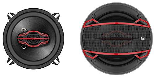 Dual Electronics DLS524 4-Way 5 ¼ inch Car Speakers with 120 Watt Power & 30mm Mylar Balanced Dome Midrange