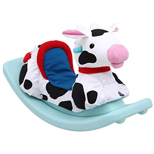 Rocking Horses Toys & Games/Baby & Toddler Toys Children's Baby Toy Plastic Pony Baby Rocking Chair 1-3 Years Birthday Gift (Color : White, Size : 86cm*47cm)