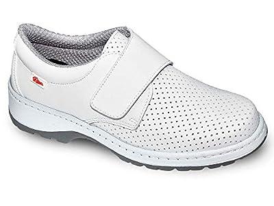 Milan-SCL picado Color Blanco Talla 38, Zapato de Trabajo Unisex Certificado CE EN ISO 20347 Marca DIAN