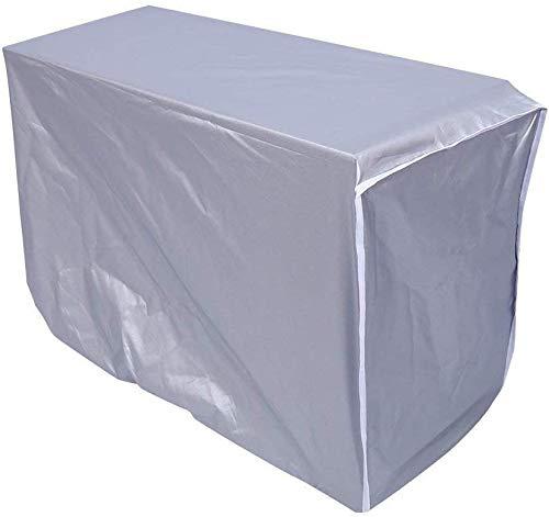 TAQU エアコンカバー 室外機 シルバー エアコン室外機カバー 室外機 カバー エアコン 室外機用 カバー ホコリ 汚れ ケース 防止 ゴミ ガード日よけ 日除けカバー クーラー 雨 雪 ガード (2p)