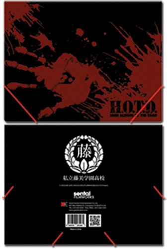High School Of The Dead Logo Elastic Band DocuHommet Folder